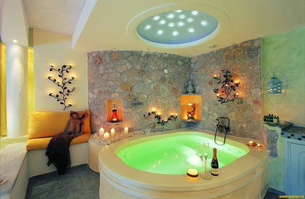 Дизайн ванной комнаты с ванной джакузи фото